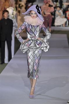 Technically not  gown, but I love all things harlequin ~ Dior, 2007