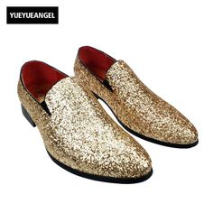 >> Click to Buy << Punk Stylish New Mens Sequin Dress Fashion Shoes For Man Slip on Loafers Silver Bling Bling Breathable Casual Shoes Silver Gold  #Affiliate