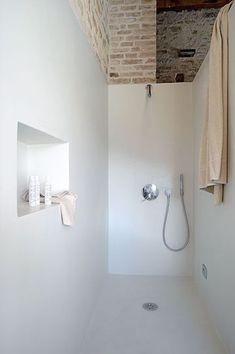 badkamer niet te voorzien van standaard wandtegels