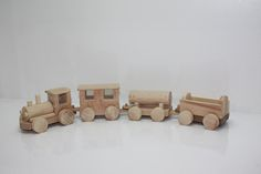 Wooden train: wooden locomotive with 3 wooden wagons by WWT  HANDMADE in Artsakh, Armenia   Price: AMD 7200
