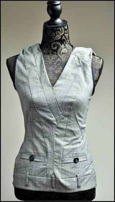 Refashion suit pants into a stunning top