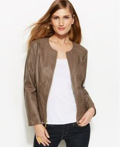 This jacket, in cognac. I mean. - GUESS Faux-Leather Jacket waste ...