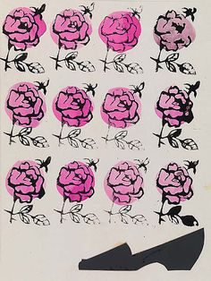 Shoe and Roses / Warhol