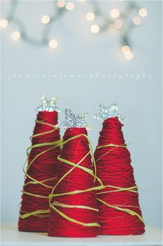DIY Christmas Decor - ribbon spools, love it Christmas Decorations For The Home, Holiday Crafts For Kids, Diy Christmas Gifts, Christmas And New Year, All Things Christmas, Holiday Fun, Christmas Holidays, Xmas, Holiday Decorating