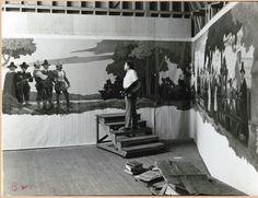 N.C. Wyeth painting the Metropolitan murals