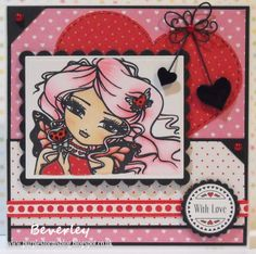 Bev's Little Craft Room: Crafty Calendar Valentine Challenge - Love is all Around Card