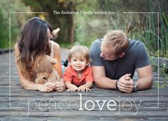 Peace Love Joy 7x5 Flat Card