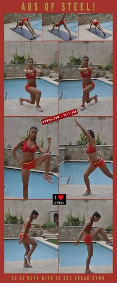 Ab Workout. Try these moves for a month and see your butt & abs firm up! Do 15-25 reps with 30 seconds break in between, 3 times a week. Repeat 2-3 times as you get stronger. *Get your free month at gymra.com, cancel any time*