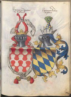 Grünenberg, Konrad: Das Wappenbuch Conrads von Grünenberg, Ritters und Bürgers zu Constanz um 1480 Cgm 145 Folio 106