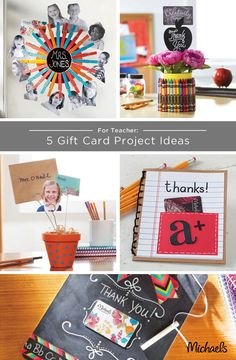 Looking for the perfect gift for your teacher? Let Michaels help with these 5 great DIY ideas for gift card holders. These are just a few ideas, get creative and have fun! Your teacher will be so proud.