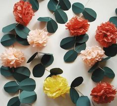 Ten Fall Garland Suggestions - http://www.dailywomanmag.com/wedding-ideas/ten-fall-garland-suggestions.html