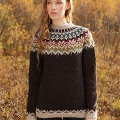 Crochet Patterns Sweter Knitting package Lettlopi No. Crochet Pullover Pattern, Jumper Knitting Pattern, Knitting Patterns Free, Knit Patterns, Free Knitting, Dress Patterns, Free Pattern, Knit Crochet, Punto Fair Isle