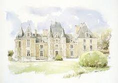 drawings of chateau - Google Search Linda Vanysacker-Van den Mooter, Chateau de Bois-Bide, Ille-et-Vilaine