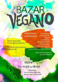 Curitiba:  Bazar Vegano 09 de abril de 2016  Site do evento:    https://lnkd.in/egJKWqE   #veganismo  #eventovegano  #govegan #veganismoBrasil  #veganismobr #sustentabilidade #semcrueldade  #saudável #zeroleite #zerolactose #aplv #semlactose #proteínadoleite #intolerâncialactose #maeeaplv #maedeaplv #mamaeeaplv #dietaaplv #freelactose #nolactose #lactosenao #lactosenão #lactosezero #intolerantesalactose  #Curitiba