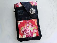 Japanese Sakura Fabric  Mobile Phone Pouch from Lily's Handmade - Desire 2 Handmade Gifts, Bags, Charms, Pouches, Cases, Purses by DaWanda.com