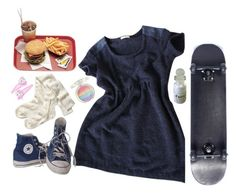 """simple b••••"" by nymphet-fresh ❤ liked on Polyvore featuring By Zoe, Converse, H&M and Hello Kitty"