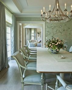 Seamless Vintage Seaglass Coastal Dining Room Design !