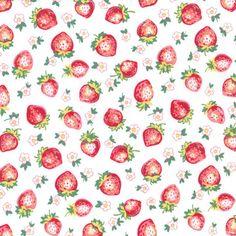 LW5272 berry STRAWBERRY BLOSSOMS fruits laminated cotton laminates