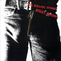 1971.  For their ninth studio album, Sticky Fingers, The Rolling Stones asked Andy Warhol to design what would become one of the most popular album covers of all time. The sleeve featured a shot of Joe Dallesandro's crotch, with workable zip, and for the first time showcased the band's tongue and lips logo, as designed by John Pasche.