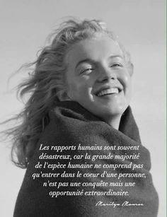 Marylin Monroe, Marilyn Monroe Quotes, Positive Attitude, Positive Thoughts, French Quotes, Powerful Words, Love Words, Positive Affirmations, Words Quotes
