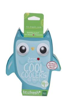 PURCHASED - Fit & Fresh 4-pack owl junior lunchers cool coolers ice packs
