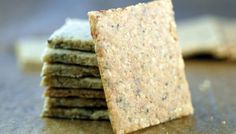 Sesame crackers made with almond flour