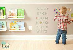 Parede imantada! #Montessori