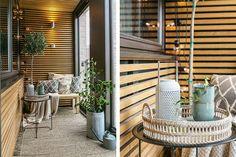 Теплый скандинавский интерьер с оригинальным балконом (47 кв. м) | Пуфик - блог о дизайне интерьера
