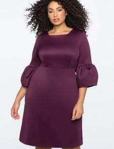 Bell Sleeve A-Line Dress from eloquii.com