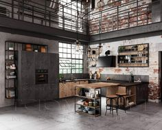 Loft Kitchen, Cribs, Cool Stuff, Table, Furniture, Home Decor, Google, Cots, Decoration Home