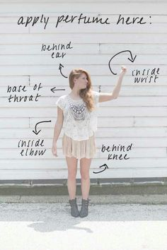 Where to properly apply perfume. (: