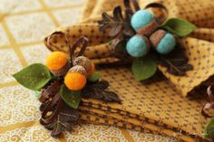 Need to make these this fall!!!!!!!   Autumn Acorn Napkin Rings - girl. Inspired.
