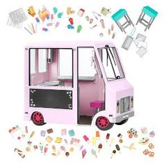 Our Generation Blue Sweet Stop Ice Cream Truck Fits American Girl Dolls Doll Ag Dolls, Girl Dolls, Our Generation Doll Accessories, Poupées Our Generation, American Girl Doll Sets, American Girls, Accessoires Barbie, American Girl Accessories, Mini Things