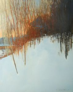 oil on wood panel<br> David Lidbetter Fine Art Landscape Artwork, Watercolor Landscape, Watercolor Paintings, Watercolor Artists, Abstract Paintings, Oil Paintings, Winter Art, Winter Landscape, Art Plastique