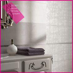 Collezione SECRET #abkemozioni #wall Gesso e Tortora #decor Luxury Perla #ceramica #ceramics #design #tile #bathroom