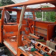 Are you rust aware? You won't know until you go... Go and rip your windows, doors and everything else out. It's nice to have a westy sunroof while working in the confined space. #westy #vanlife #project #vwbus