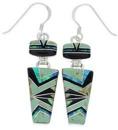 Genuine Sterling Silver Multicolor Hook Dangle Earrings Jewelry EX29542 http://www.silvertribe.com