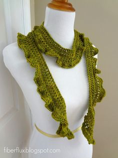 Arugula Scarf by Fiber Flux -- one of my FAV spots. LOTS of nice -- and FAST projects for yourself or for gifts.