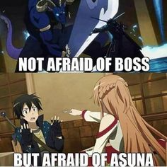 My otaku anime Arte Online, Kunst Online, Online Art, Me Anime, I Love Anime, Sao Memes, Funny Memes, Hilarious, Tous Les Anime