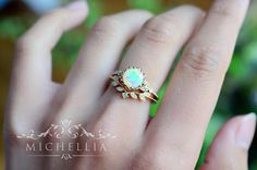 「Evanthe」- Vintage Floral Ring, in Opal One of our most iconic designs, our signature vintage floral collection combines the essence of Art Nouveau with effortless modern elegance. Inspired by the goddess of flowers, this timelessly beautiful design lives up to its name Evanthe,