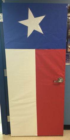 Texas flag classroom door
