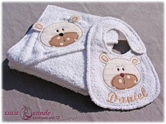 baby towel and bib for boy