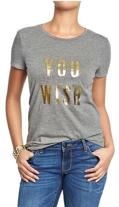 'You Wish' Graphic Tee - only $4.90 with code:  DASHER   http://rstyle.me/n/ug7g5nyg6