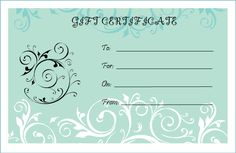 Free Blank Certificate Templates | Blank Gift Certificate Template