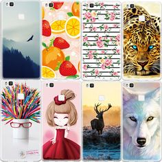 Animal Back Cover Case For Huawei Ascend P9 Lite P8 Lite Honor 4C 5C 8 Printed Pattern Soft TPU Cell Phone Cases Fundas Coque