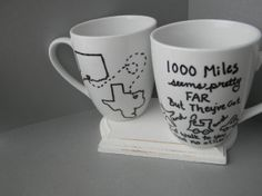 NEW DESIGN Long distance relationship friendship miss you mug state to state moving thinking of you One mug Two states Hey there Delilah Presents For Friends, Pottery Painting, Long Distance, Planes, Trains, Thinking Of You, Friendship, Artsy, Relationship