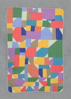 Twin size quilt: Cortelyou quilt improv modern by zakfostershop