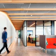 """With its overarching concept """"workplace as home,"""" the new Sydney offices for global tech firm Dropbox engage the company's employees and customers..."""