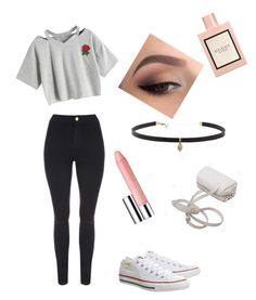 Walk in the park with a loved one💕 by kaycass1 on Polyvore featuring polyvore, fashion, style, WithChic, Jane Norman, Topshop, Carbon & Hyde, Clinique, Gucci and clothing