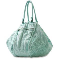 DIESEL Divina ($198) ❤ liked on Polyvore featuring bags, handbags, purses, bolsas, handbag purse, green purse, diesel bags, zipper handbag and zip bag